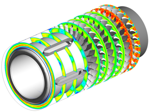 CFD analysis of three stage with bearings