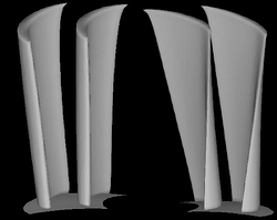 3 stage axial turbine