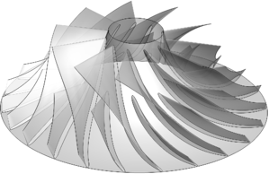 The baseline compressor wheel